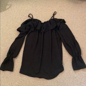 Karen Kane black long sleeve top size xs